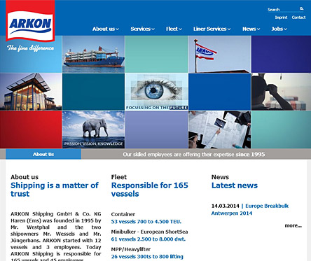arkon-shipping.com screenshot